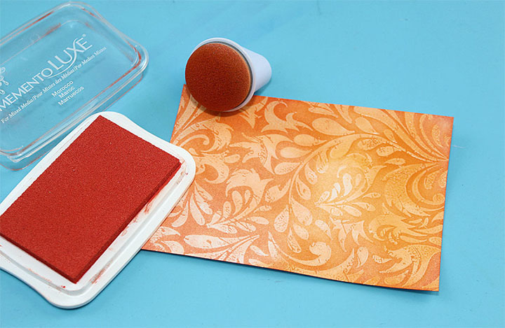 Memento Luxe Momento inkpad in Morocco Orange