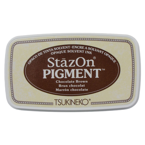 StazOn Pigment Ink Chocolate Brown