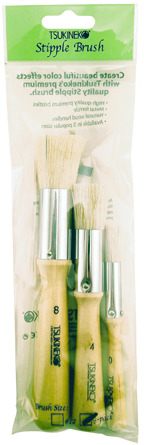 Stipple Brush<br>3 piece pack<br>Sizes #0, #4, #8