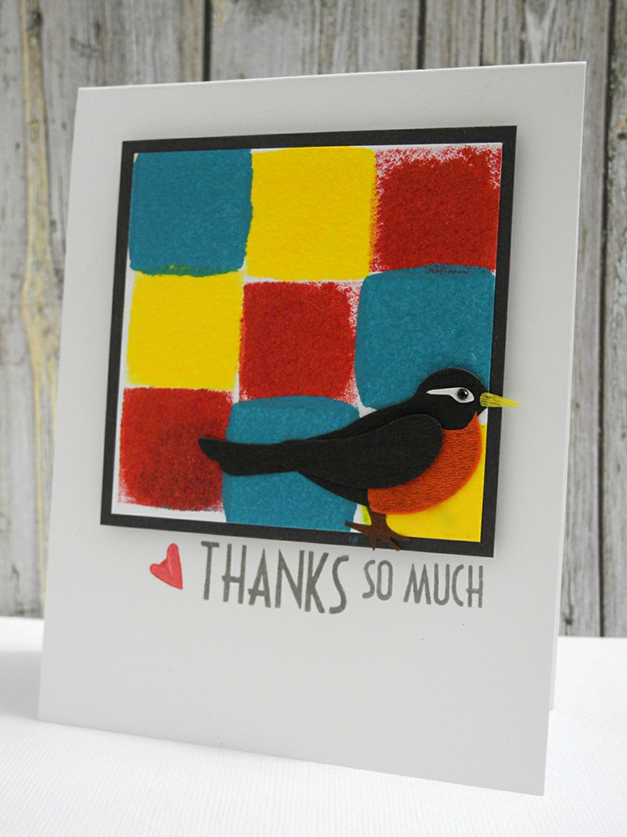 VersaColor Ink for a Bird-Themed Thank You Card