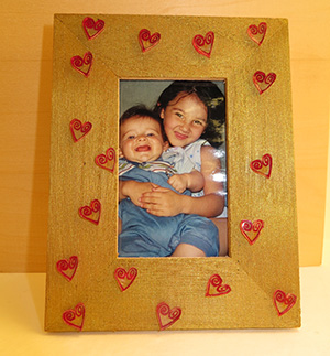 Hearts Picture Frame with Shrinky Dinks