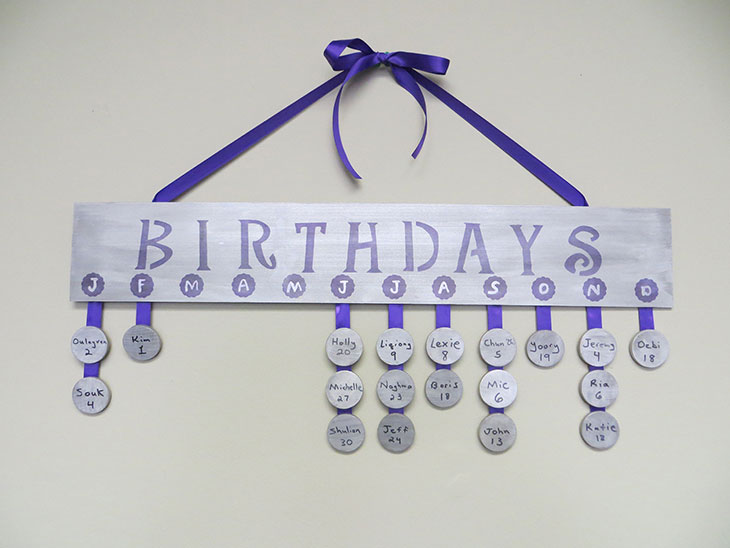 Birthday Board Calendar made with StazOn Ink - January crafting project
