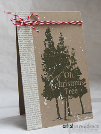 Oh Christmas Tree Card with Memento Luxe
