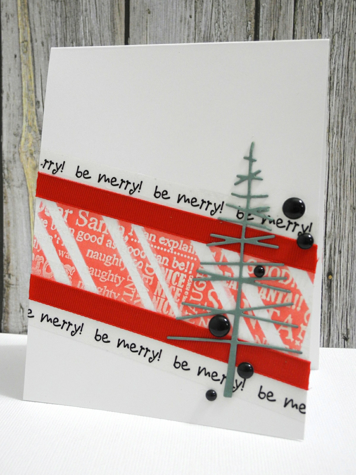 Be Merry Simple Christmas or Holiday Card