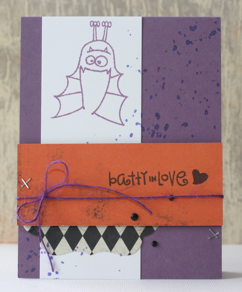 Batty in Love Halloween Card card making, paper craft, hand made cards, hand made, paper crafting, stamping, scrapbooking, card maker, paper crafts, cards, crafting, hobby, card making ideas, DIY, clear stamps, scrapbook,  greeting cards, scrap, birthday
