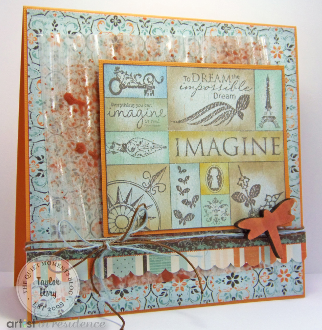 Imagine Dragonfly Greeting Card using Monterey Pine