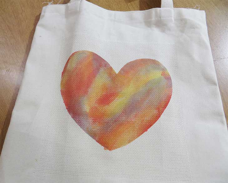 All-Purpose Ink - Stenciled Tote Bag