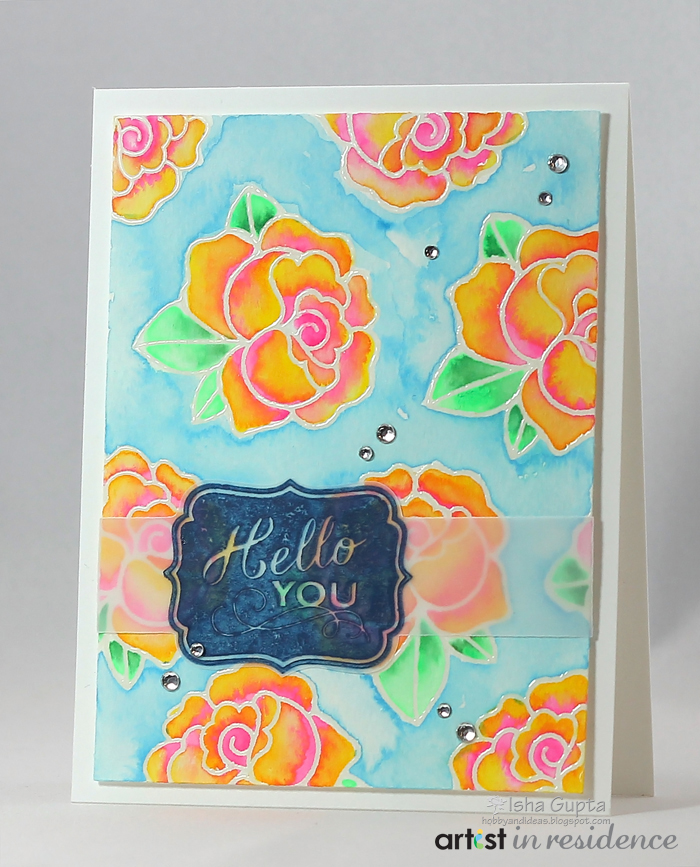 Hello You Flower Watercolor Greeting Card