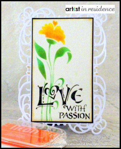 Radiant Neon Ink for a Love with Passion Card