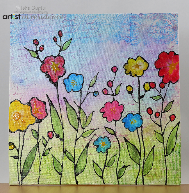 Pico Embellisher Spring Flowers Canvas