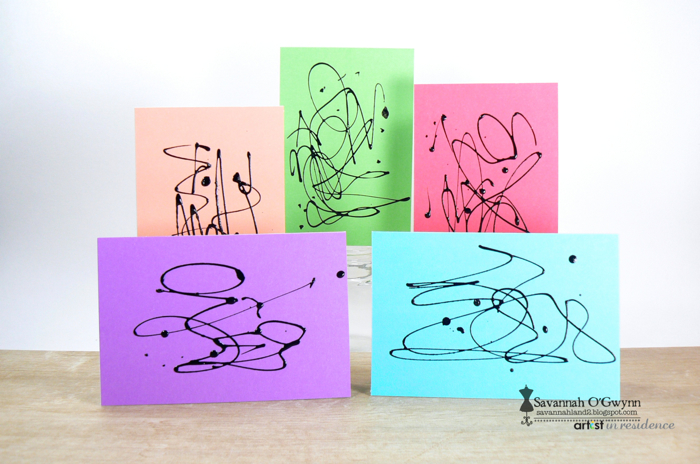 Abstract Expressions on Colored Paper
