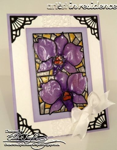 Memento Markers to Color Stained Glass Orchids