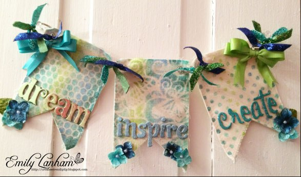 Dream, Inspire, Create with a Kaleidacolor Decorative Banner