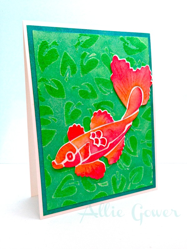Radiant Neon Pigment Ink for a Swimming in the Koi Pond Card