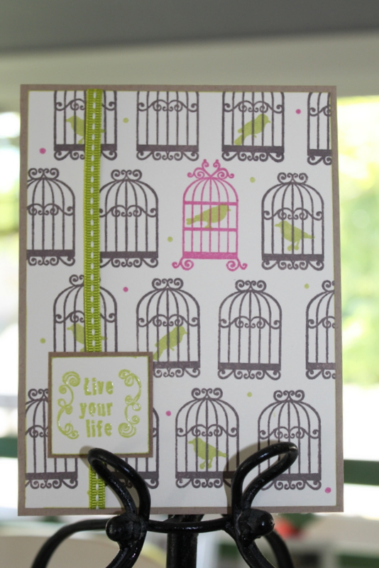 Birdcage Card with Memento Luxe