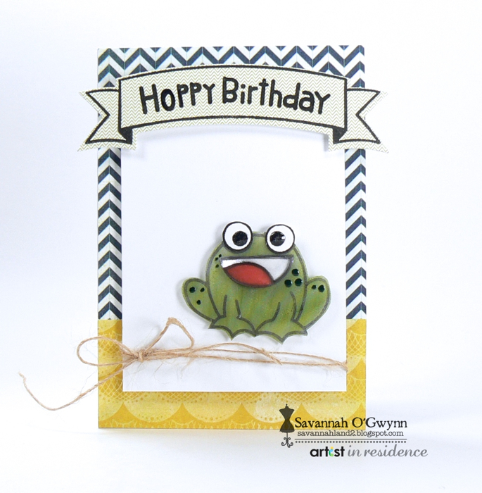 Happy Birthday Frog Card in Cute and Simple Style