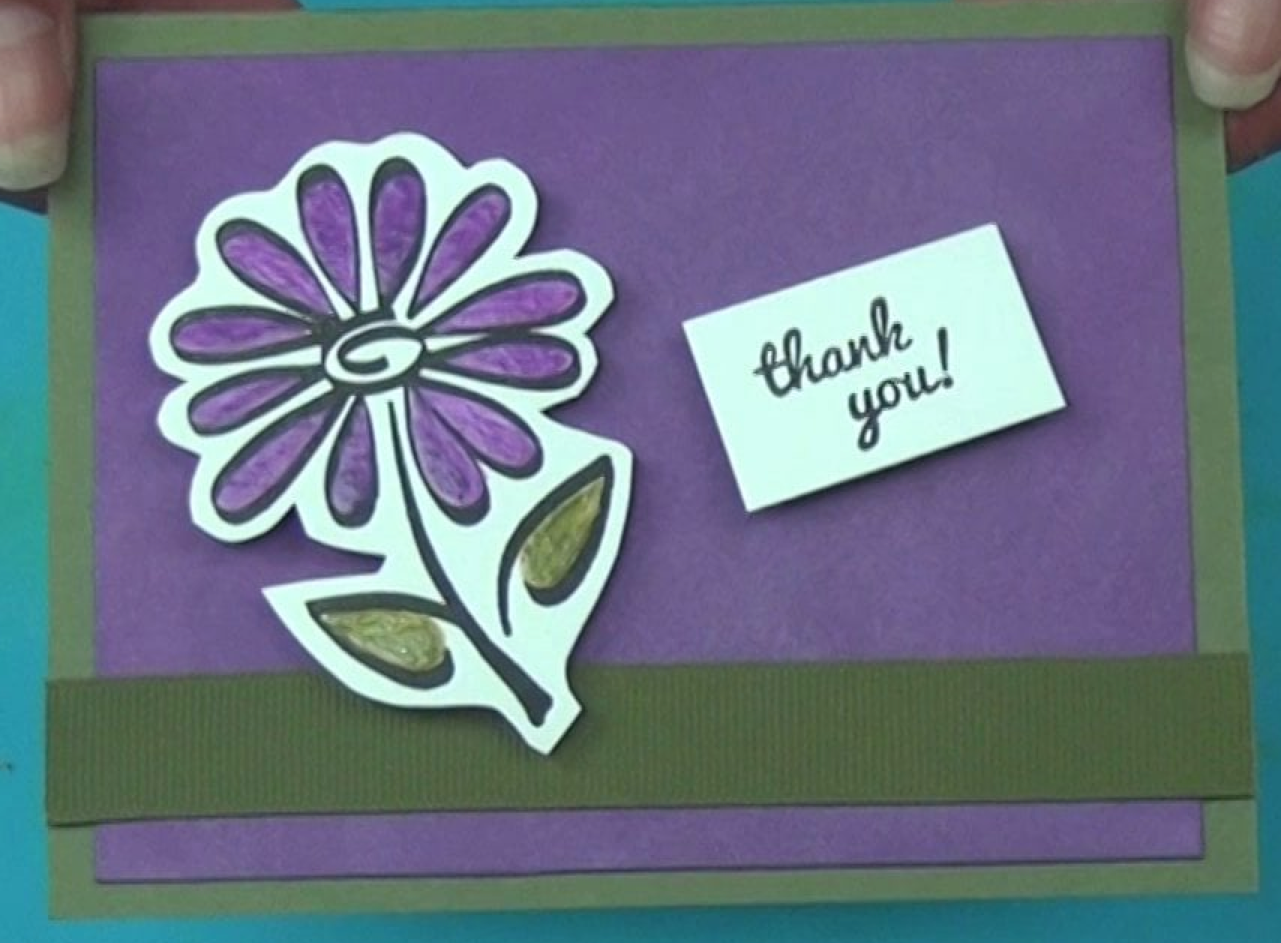 VersaMagic Ink and Goosebumps to Make a Textured Flower Card