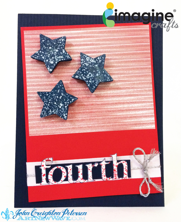 Memento Luxe for a Stars and Stripes 4th of July Card