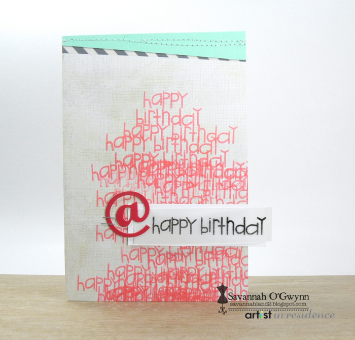 Happy Birthday Card with Stamping Texture
