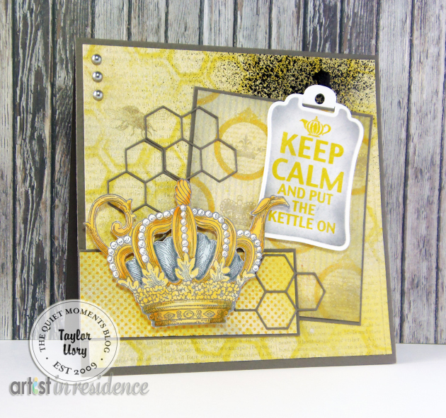 IrRESISTibles for a Mixed Media Put the Kettle On Card