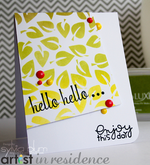 Hello, hello...Greeting Card with Memento Luxe