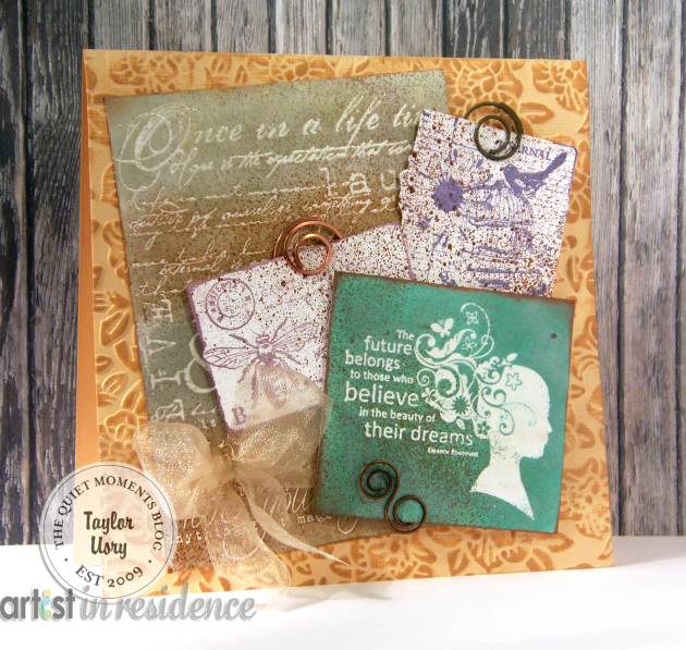 Metallic Ink for Mixed Media Dreams Card