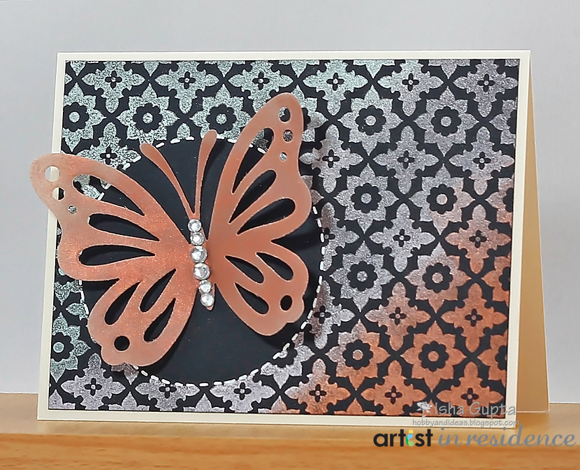 Shimmery Copper Vellum Butterfly Greeting Card