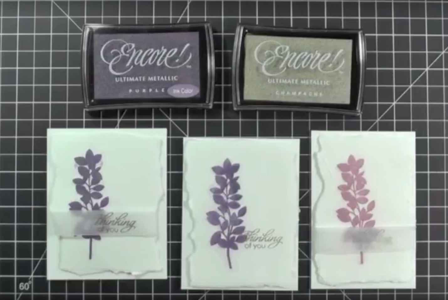Thinking of you Greeting Cards with Encore! Inks