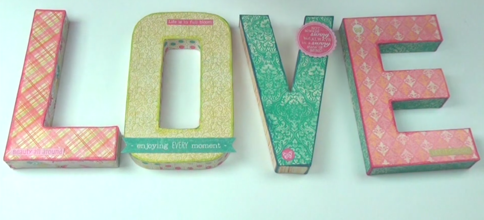 Large Decoupaged Letters with Cardstock