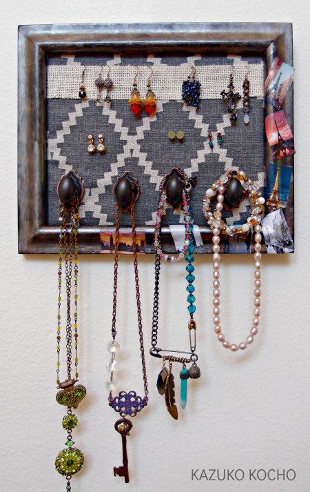 Upcycled Picture Frame to Jewelry Organizer with StazOn Ink