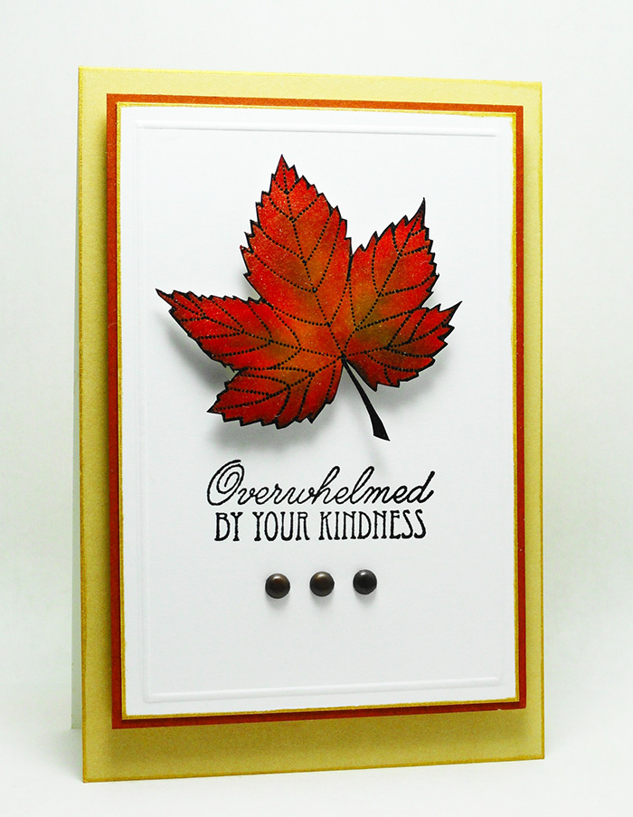 Kaleidacolor in Autumn Leaves Kindness Card