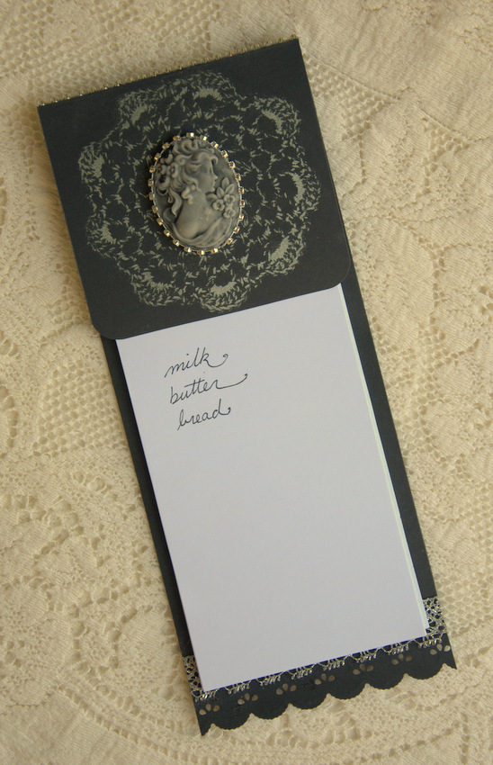 Cameo Memo Pad for Planners - Great New Year's Gift- Black background
