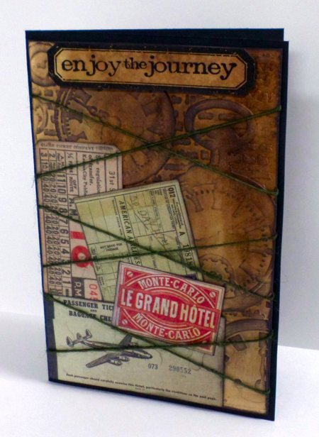 Enjoy the Journey Vintage Upcycled Card