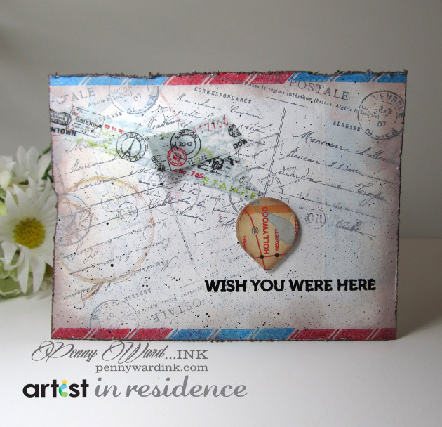 Memento Luxe for a Weathered Postcard