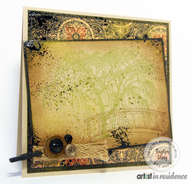 Distressed Willow Tree Greeting Card