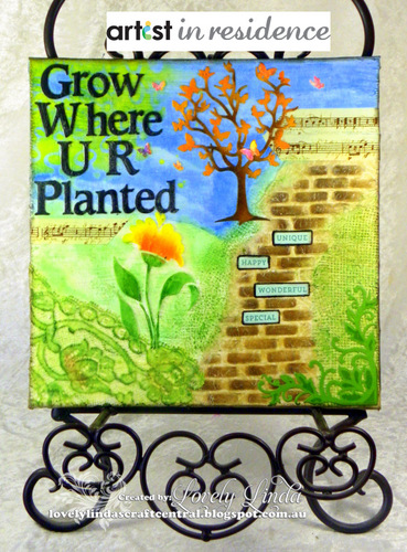 Grow Where You Are Planted Small Art Canvas