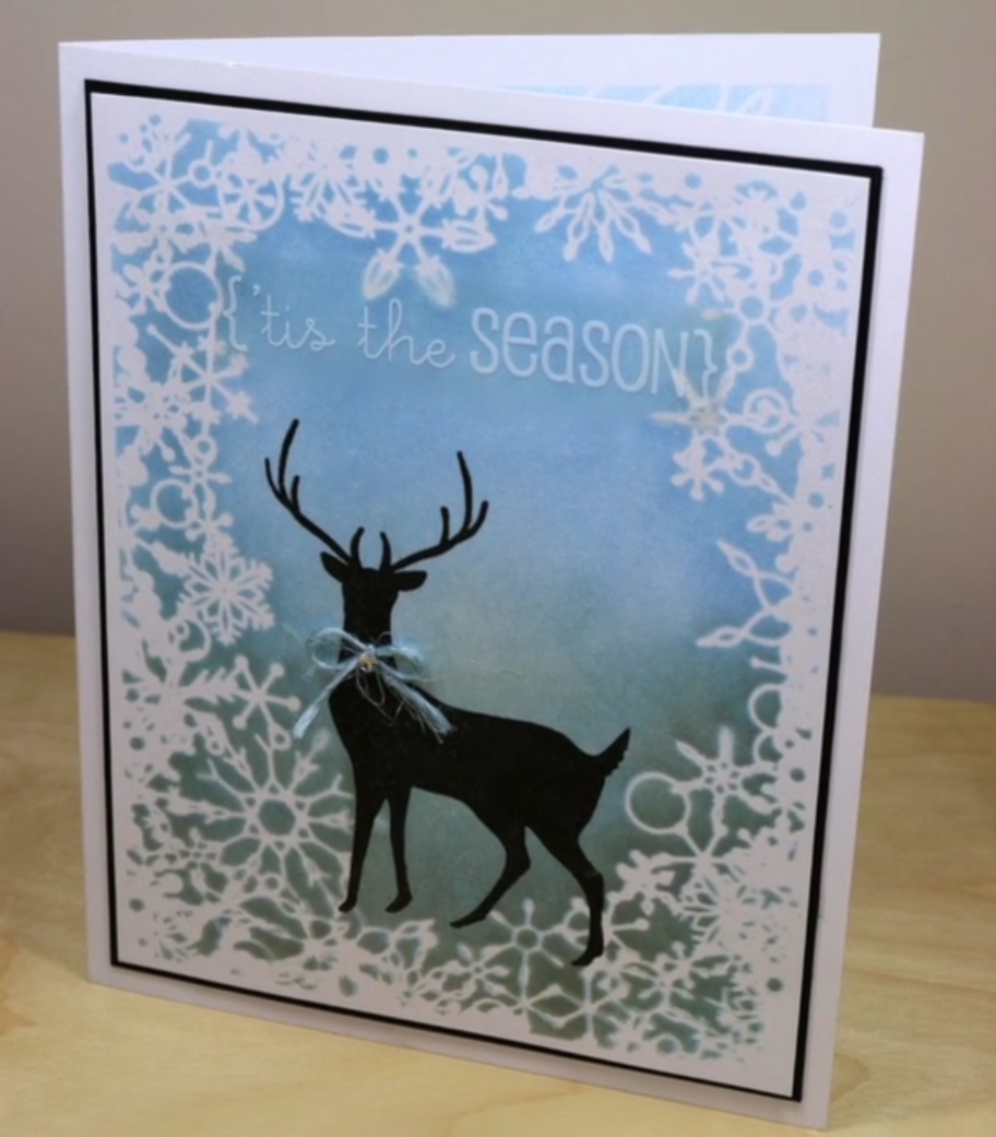 Tis the Season Reindeer Card with Memento Ink