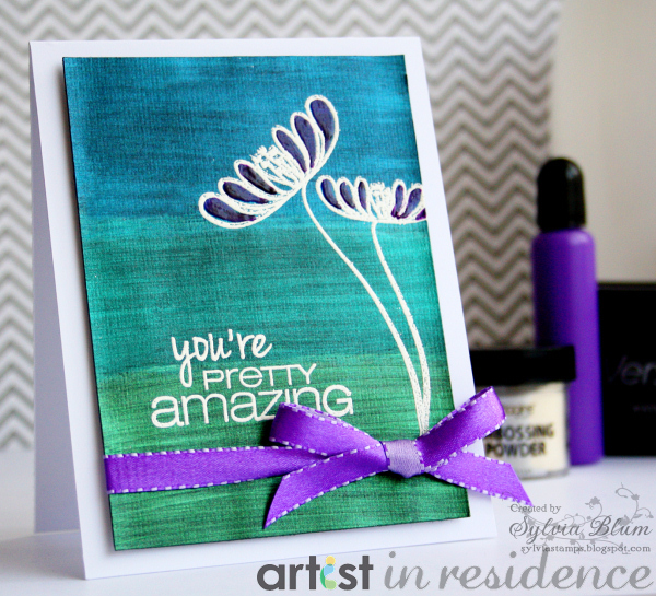 Creative Medium to Make a You're Pretty Amazing Card