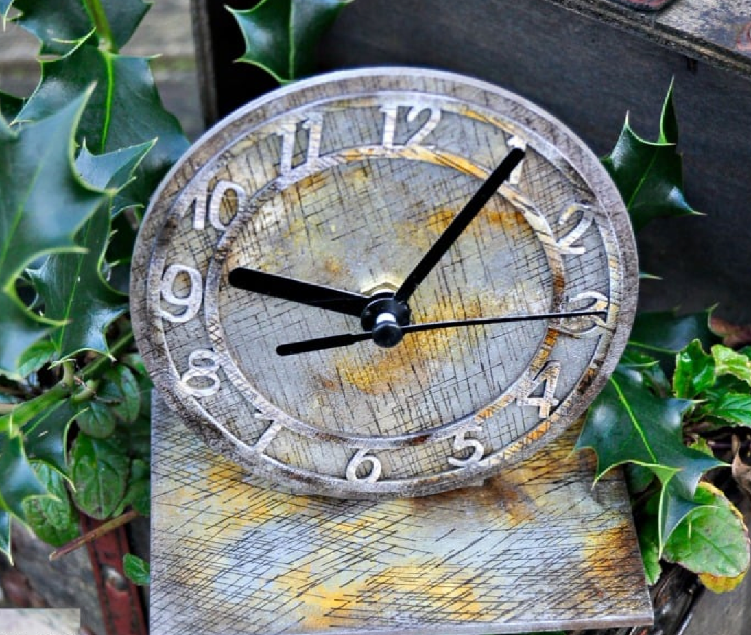 Create an Antiqued Clock with StazOn inks