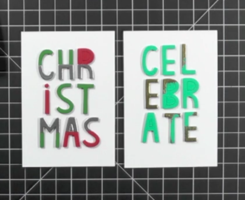 Embossed Highlights for a Modern Christmas Card