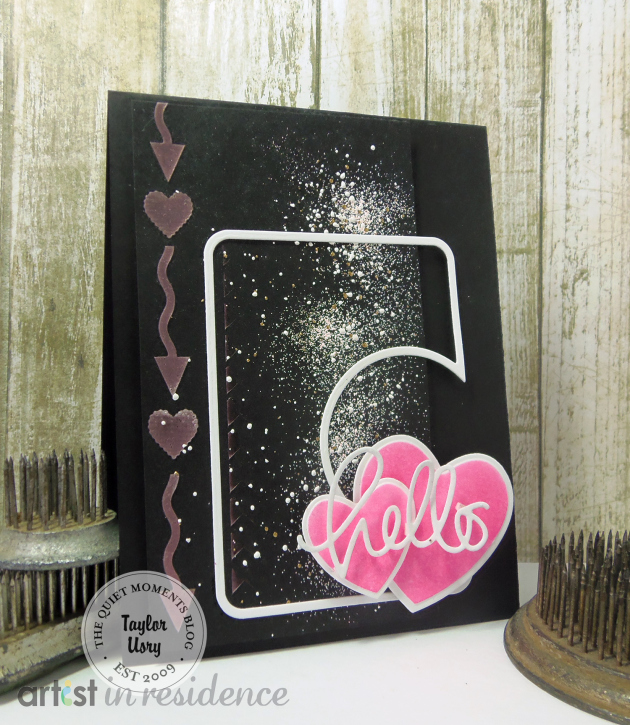 Neon Hearts for a 3D Hello Card