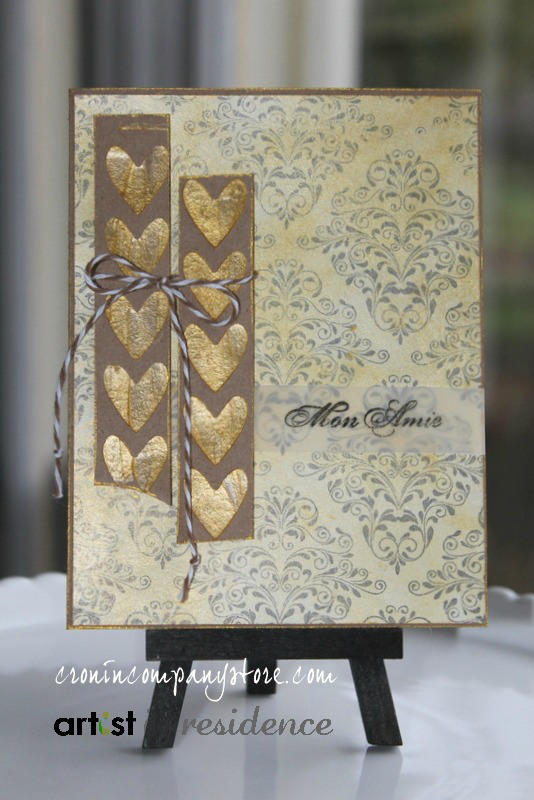 Golden Hearts with Metallic Creative Medium