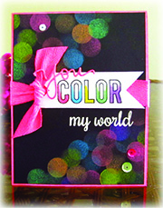 Radiant Neon on Black Cardstock for a Colorful Card