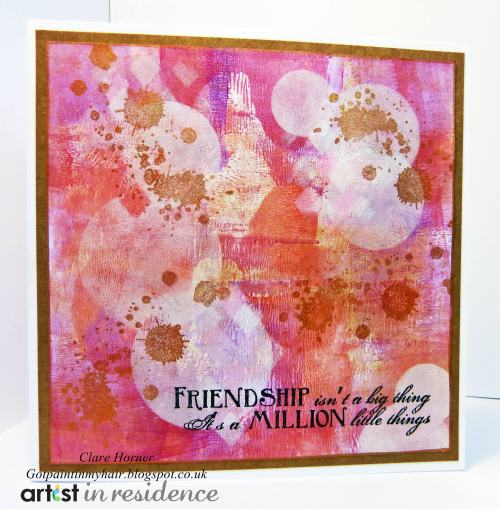 Friendship Card in a Mixed Media Style