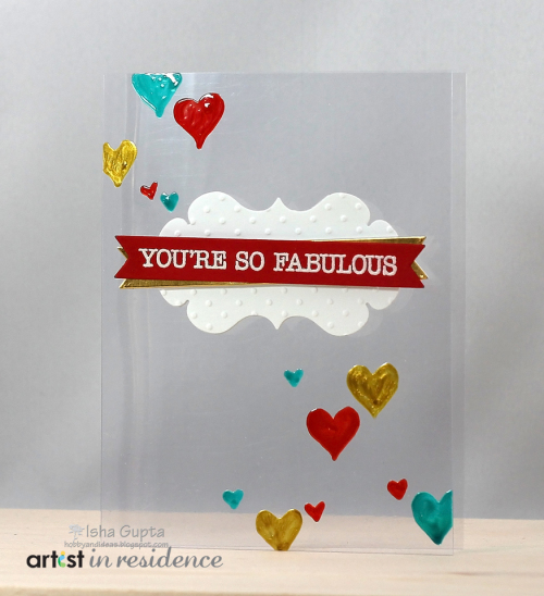 Acetate Valentines Card - Clear Card Base