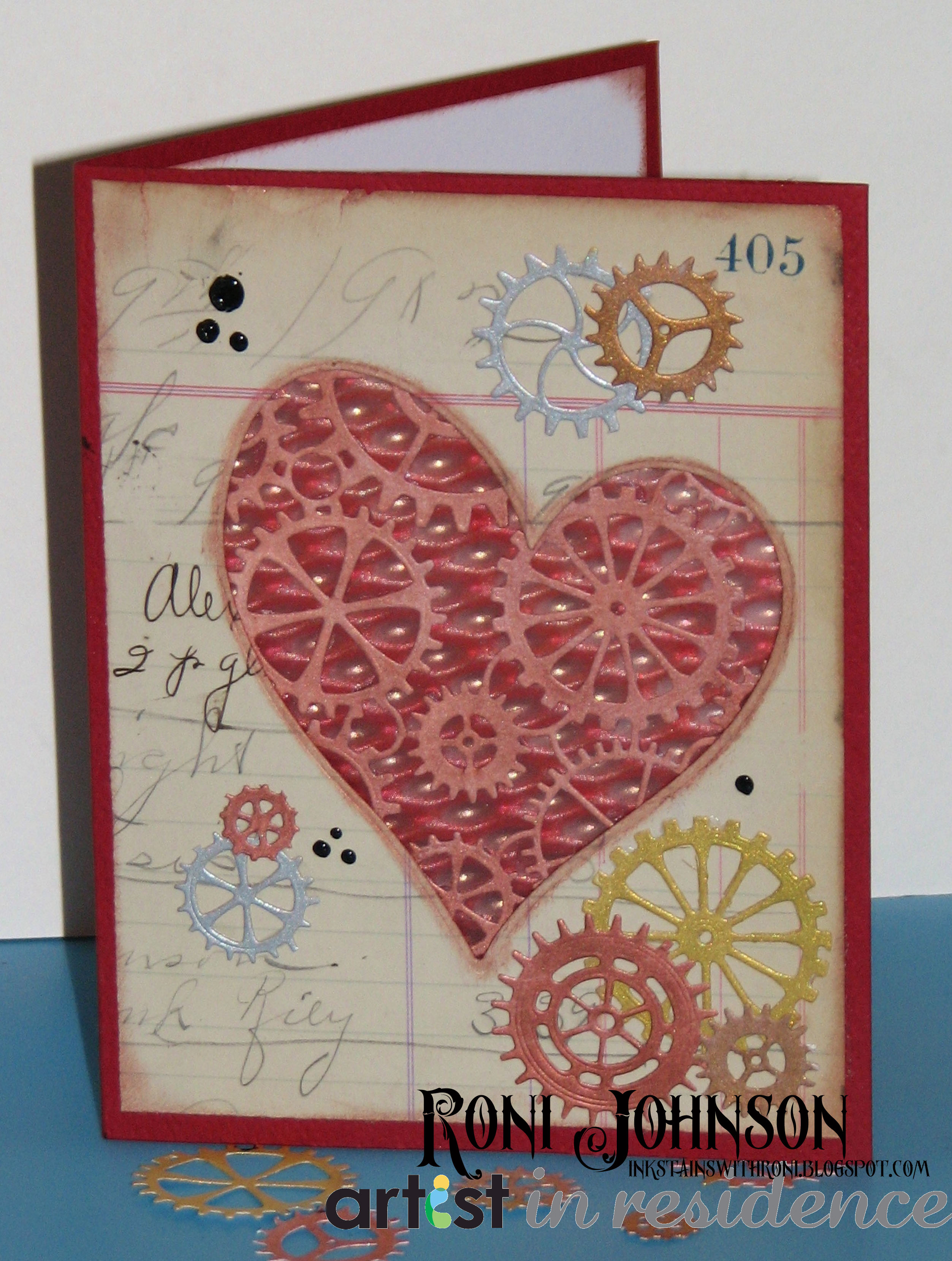 Delicata Ink for a Steampunk Valentine's Day Card