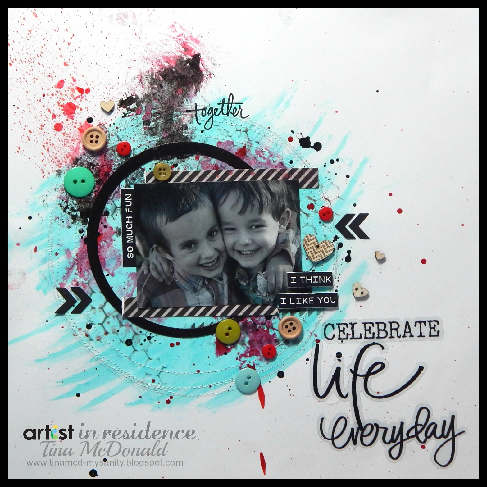 Celebrate Life Everyday Scrapbook Page