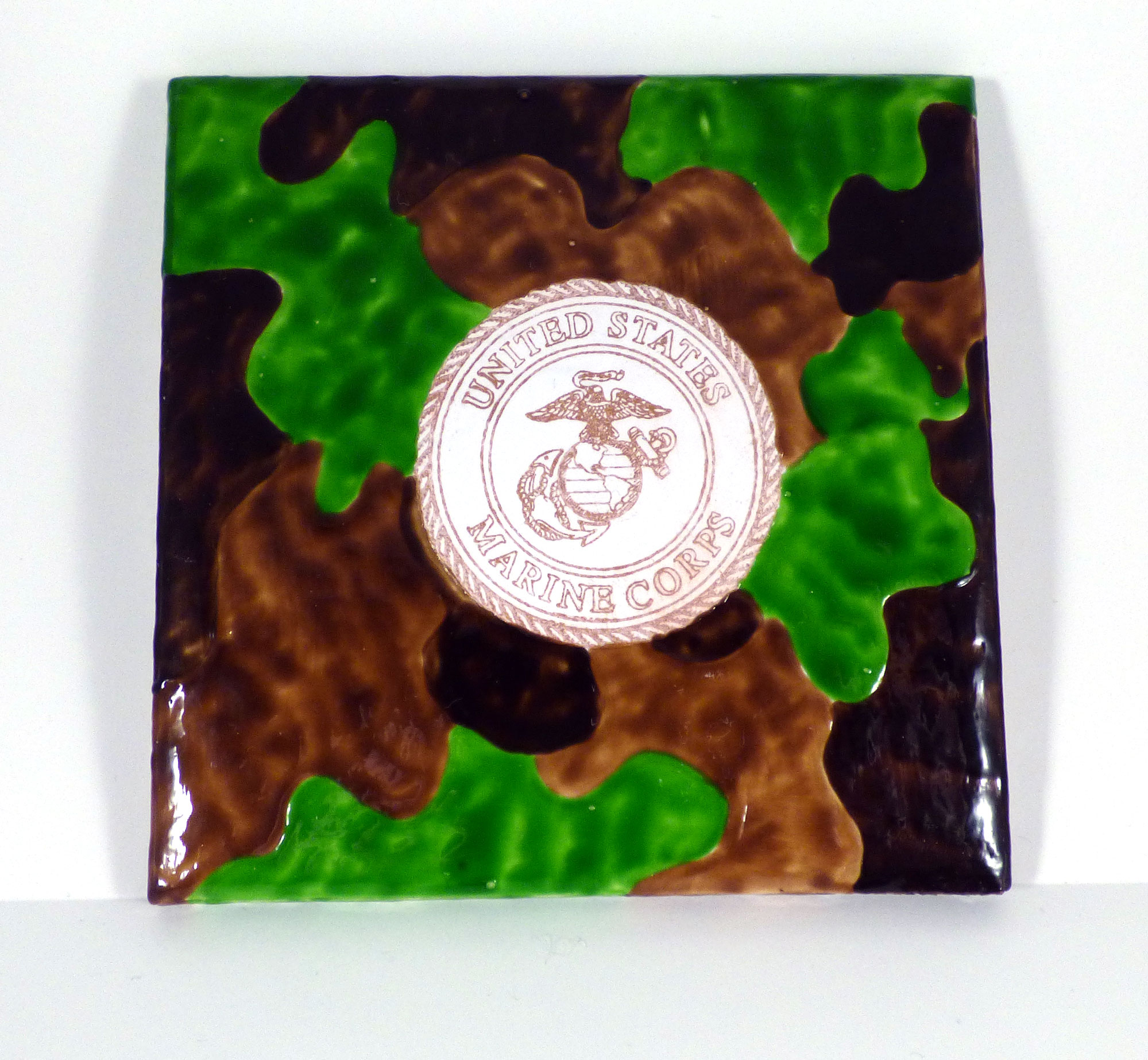 Camouflage Tiles for Military Theme Gift