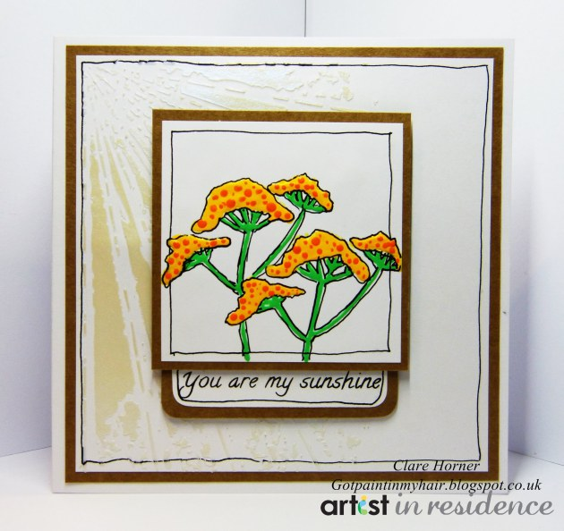 Amplify and Creative Medium for a You Are My Sunshine Card