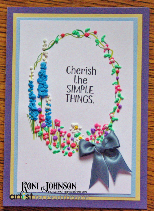 Amplify Flowers Cherish the Simple Things Card